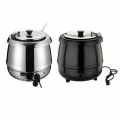 JET Stainless Steel Electric Hot Soup Pot(Silver/Black)